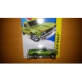 Hot wheels 2014 Datsun 620 green