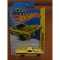 Hot wheels 2014 ford ranchero yellow