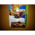 hot wheels 2014 custom 69 chevy pickup brown