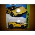 hot wheels 2014 lamborghini aventador J yellow